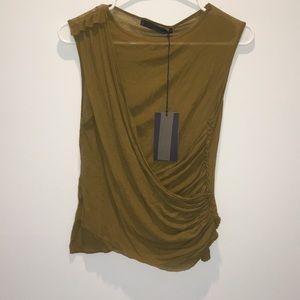 NWT Zara Womens Green Sleeveless Top sz medium